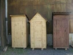 Туалет деревянный для дачи.