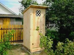 Туалет деревянный под ключ