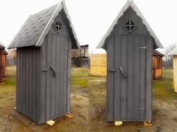 Туалет деревянный (Серый)
