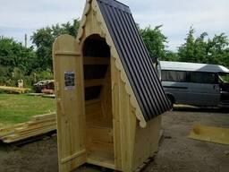 Туалет деревянный Теремок