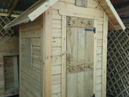 Туалет деревянный уличный дачный