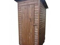 """Туалет для дачи из блокхауса """"Пенал"""""""