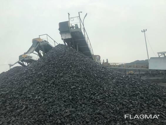 Уголь каменный в мешках и насыпью