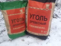 Уголь древесный 2кг.