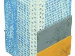 Уголок фасадный / профиль угловой ПВХ с сеткой 10х15мм, 2,5м