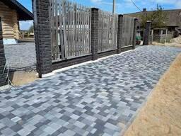 Укладка тротуарной плитки, тротуарная плитка и бордюр