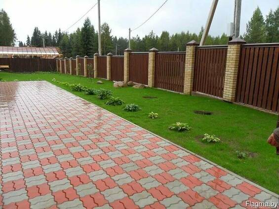 Укладка тротуарной плитки недорого Городея от 50 м2.