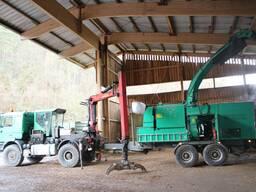 Услуга по дроблению древесных отходов, дров