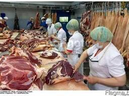 Услуга по разделке, обвалке и переработки мяса