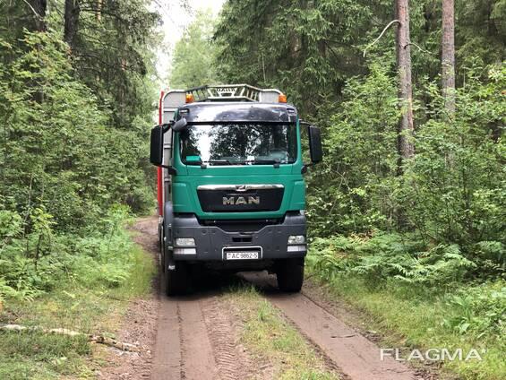 Услуги лесовоза MAN TGS 33.480, 6х6, полный привод