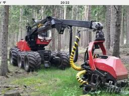 Услуги по лесозаготовке харвестером