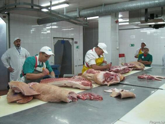 Услуги по разделке и обвалке мяса