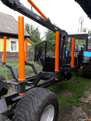 Услуги по вывозке леса трактором с лесовозной тележкой