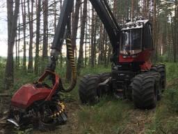 Услуги по заготовке леса харвестером Valmet 911. 3