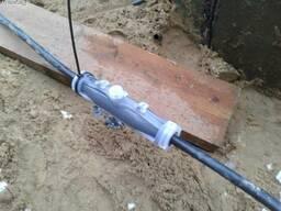 Установка соединительной муфты на кабель с ПВХ-изоляцией
