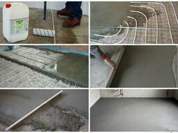 Устройство стяжек бетонных