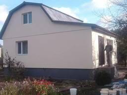 Утепление фасадов, крыши, декоративная отделка короед, амер