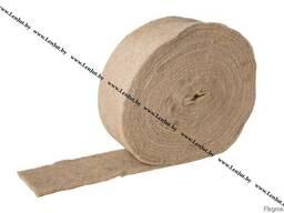 Утеплитель из джута. Короткое волокно.450гр/м2.100мм/20м/7мм