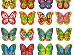 Вафельные бабочки микс 1шт.