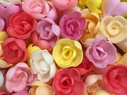 Вафельные цветы Розы большие Микс 1шт