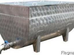 Ванна творожная из нержавеющей стали от 100 до 2500 литров