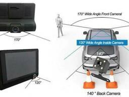 Видеорегистратор c 3-я камерами Longlife Full HD Vehicle BlackBox DVR
