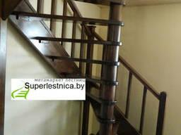Винтовые малогабаритные лестницы из сосны К-005М