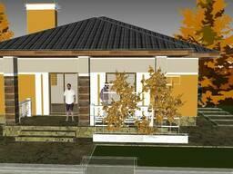 Визуализация, дизайн фасада, подбор материалов, дизайнер - фото 1
