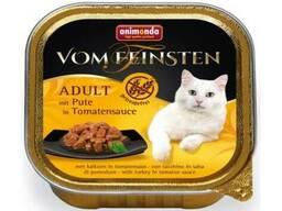Vom Feinsten Adult Grainfree - консервы для кошек с индейкой в томатном соусе (100 г). ..