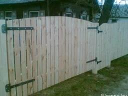 Ворота деревянные для забора