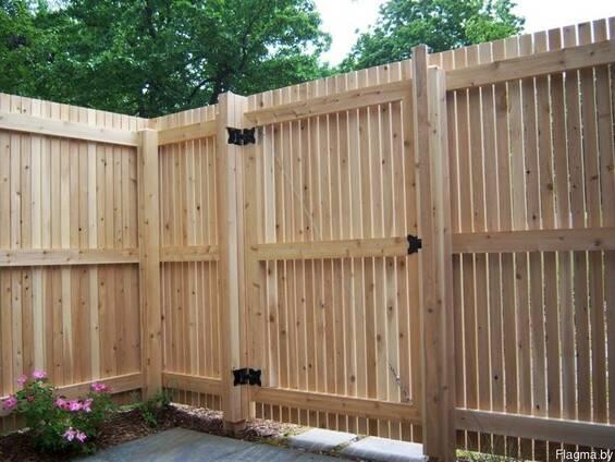 Ворота деревянные индивидуальной конструкции, MIN цена