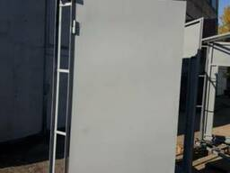 Ворота гаражные 2,3*2,1 (высота) с калиткой новые