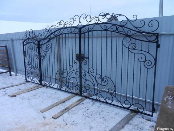 Ворота калитка кованые