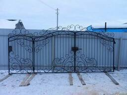 Ворота калитка кованые - фото 4