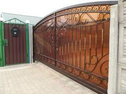 Ворота кованные откатные