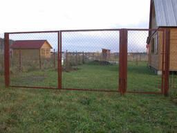 Ворота металлические из сетки и прутьев - photo 1