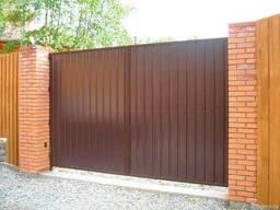Ворота металлические откатные и распашные