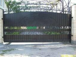 Ворота откатные, распашные.