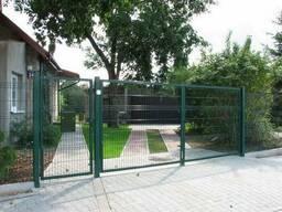 Ворота распашные проезд 3м. Полимерное покрытие
