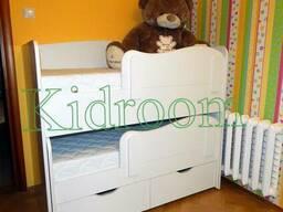Выдвижная кровать для двоих детей под заказ в Минске.