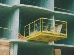 Выносная площадка К-1.3-01 3 тонны грузовая на перекрытие монтажная