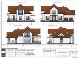 Выполним эскизный проект дома, гаражи, бани и др. объектов