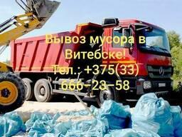 Вывоз мусора в Витебске. Помощь в демонтаже и загрузке!