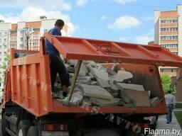 Вывоз строительного мусора самосвалом 10 20 тонн