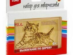 """Выжигание в рамке """"Котёнок"""""""