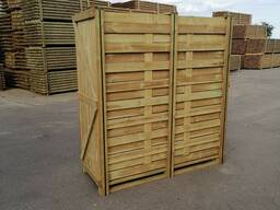 Wooden panels for fencing