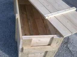 Ящик сплошной деревянный с крышкой