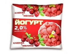 """Йогурт с фруктовым наполнителем """"Клюква-малина"""" 2% жирности"""