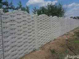 "Забор бетонный ""Плетёнка"""