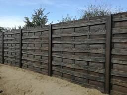 Забор цветной бетонный
